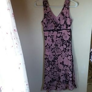 Charlotte Russe dusty rose and brown floral dress